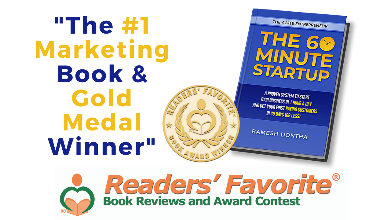 Readers Favorite Awarded My Author the Gold Medal for #1 Marketing Book | The 60 Minute Startup